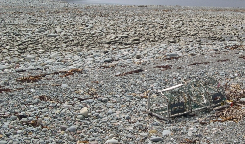 A Lobster Trap Washed Ashore at Silver Sands Beach