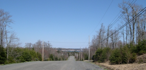 View from the top of Flandrum Hill Road