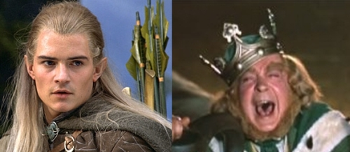 Legolas (Lord of the Rings) and King Brian (Darby O'Gill and the Little People)