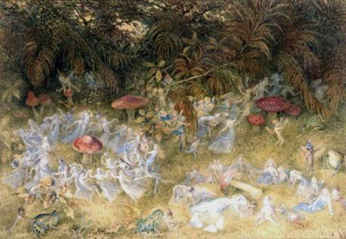 fairy rings and toadstools by richard doyle