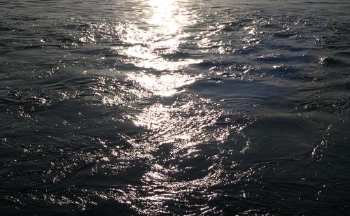 sparkling deep water