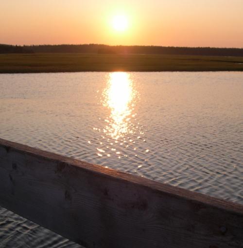 sunrise from bridge