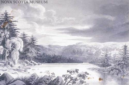 Nova Scotia 1817 by J.E. Woolford in the Nova Scotia Museum collection