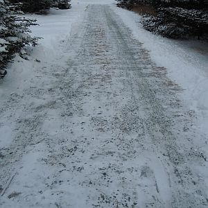driveway cleared after snowfall